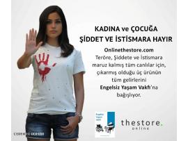 Kadına ve Çocuğa şiddet ve istismara hayır Tişörtü