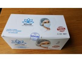 """Sağlık Bakanlığına Kayıtlı """"NOVUM"""" 3 Katlı Cerrahi Yüz Maskesi / 50 Adetlik 3 x Kutu / Toplam 150 Maske"""